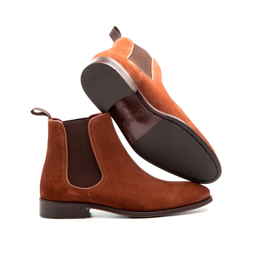 Light brown Suede Chelsea ankle boots for men Cassady Mel Handmade in Spain by Beatnik Shoes