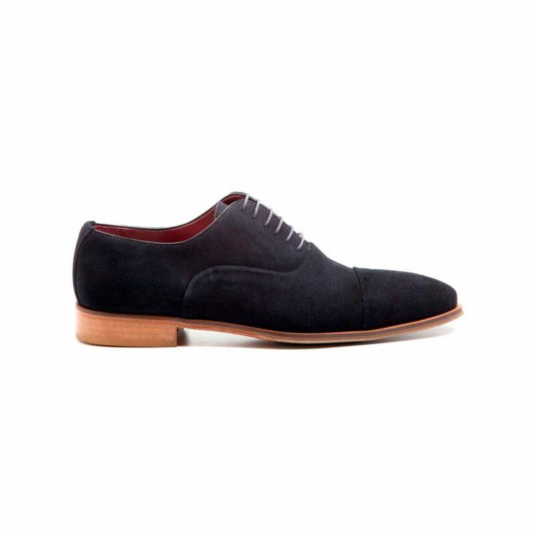 Zapato estilo Oxford de hombre en ante azul Corso Blue