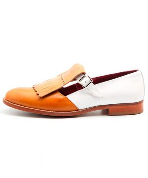 Two tone monk shoe Brenda for women Handmade in Spain by Beatnik Shoes