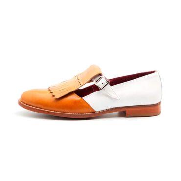 Two tone monk shoe Brenda for women Handmade in Spain by Beatnik Shoes