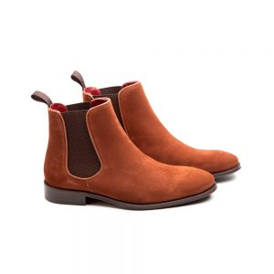 Light brown Suede Chelsea ankle boots for gents Cassady Mel Handmade in Spain by Beatnik Shoes