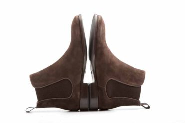 Dark Brown Suede Chelsea boots Cassady Brit by beatnik shoes, handmade in Spain