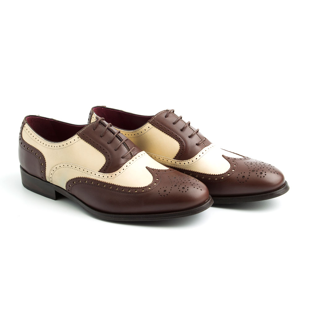 TWO TONE OXFORD SHOES FOR MEN SOFT