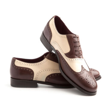 Bicolor Oxford Shoes for men Beatnik Holmes Beige & Brown. Handmade in Spain by Beatnik Shoes