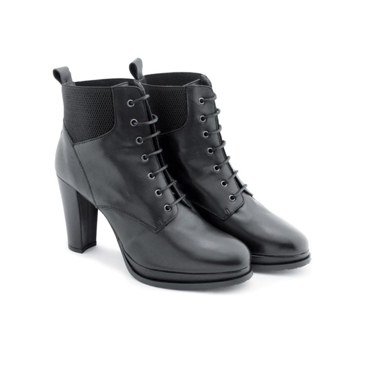 Black high heel ankle boots for woman by Beatnik