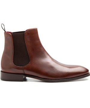 Brown Chelsea boots for men Handmade by Beatnik Shoes