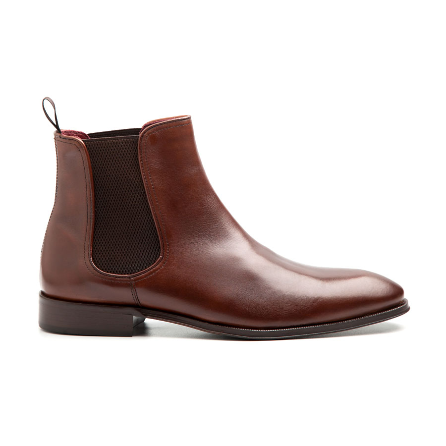 278465ecf3b3e Brown leather Chelsea boots for men - Handmade in Spain