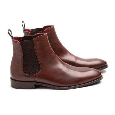Bottes Chelsea brunes pour hommes faites à la main par Beatnik Shoes