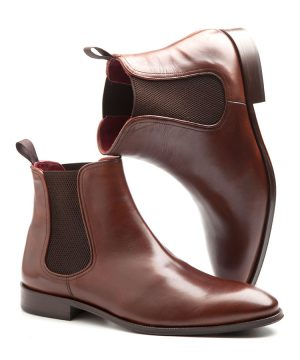 Handmade brown Chelsea boots for men by Beatnik