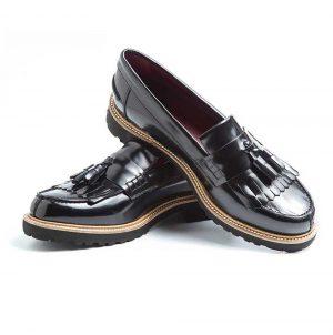 Zapato de borlas negro para mujer Mary