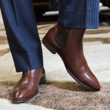 Botas Chelsea para hombre Cassady Brown hecha a mano en España en piel de becerro marrón por Beatnik Shoes