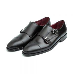 Zapato monk negro para hombre Lamantia black