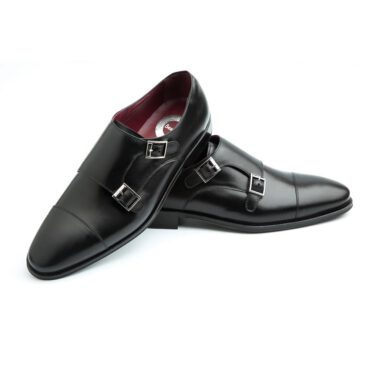 Men's monk black shoe Beatnik Lamantia black