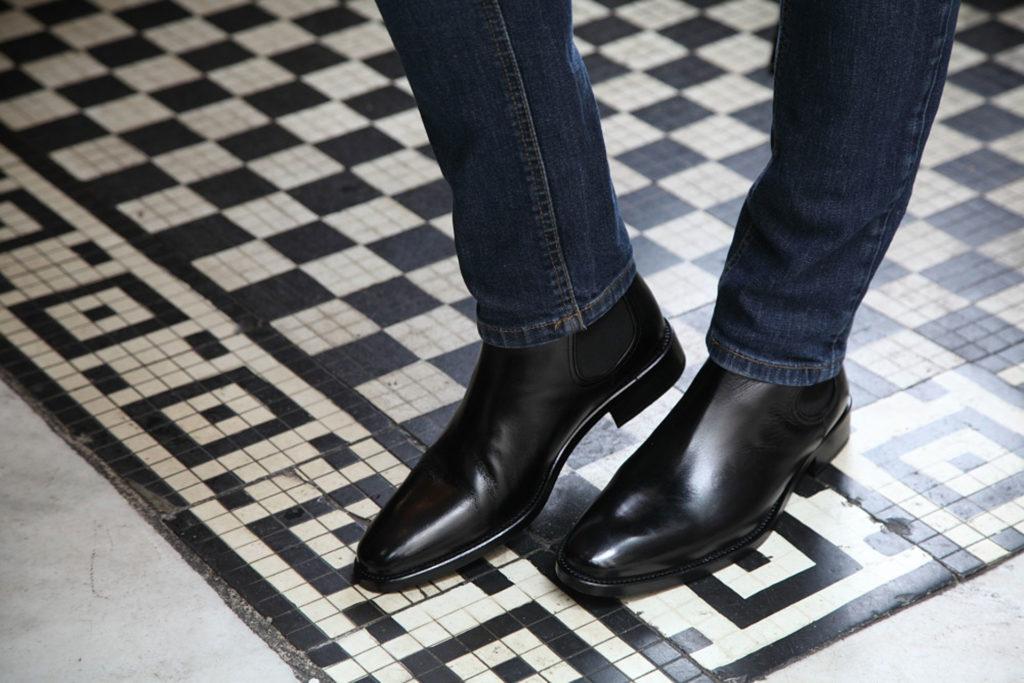 Black Chelsea boot by Beatnik