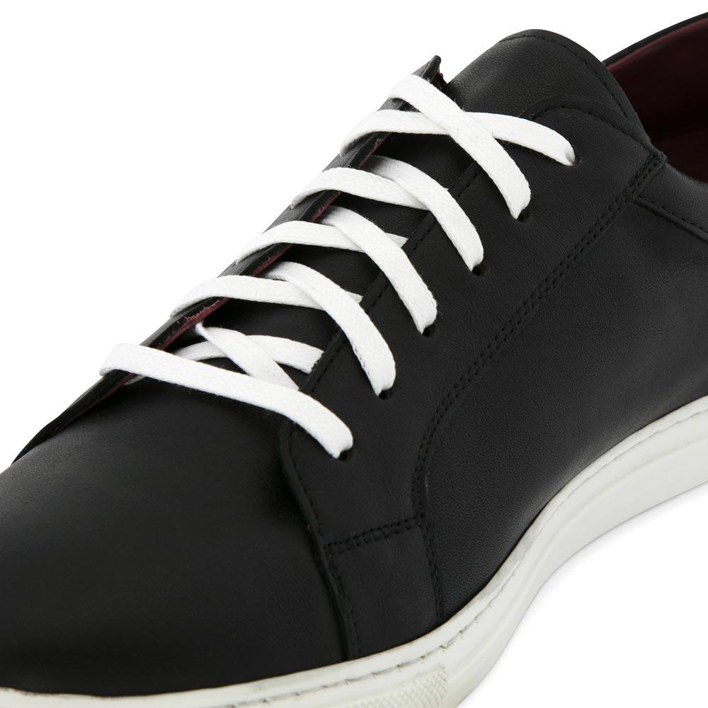 ee695aca58 Zapatillas de piel bicolor blancas y negras para hombre y mujer estilo  formal Harper Black and