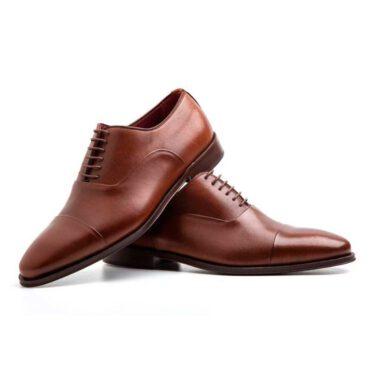 Zapato estilo Oxford de hombre en piel marrón Beatnik Miller Brown