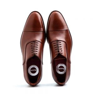 Oxford style shoes for men in brown leather Miller Brown