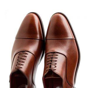 Zapato estilo Oxford de hombre en piel marrón Miller Brown