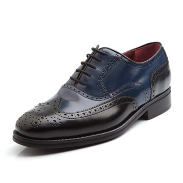 Two-Tone classic laces Oxford Style for men Holmes Black & Blue