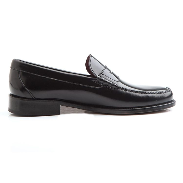 Classic black moccasin for men Allen