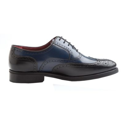 Zapato bicolor para hombre de vestir en piel Holmes Black & Blue