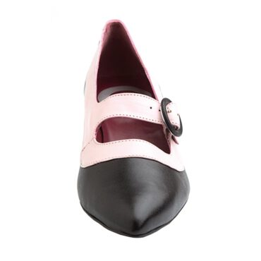 Court room shoes two-toned black and pink ceremony shoes for women Beatnik Sylvie Black & Pink