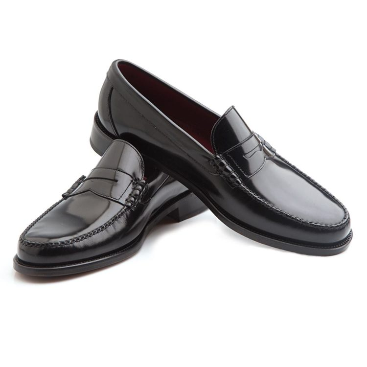 Classic black moccasin for men Beatnik Allen Black