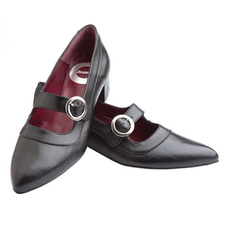 Zapato negro de tacón cómodo Sylvie Black