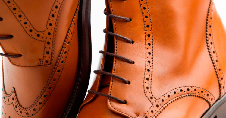 Brown leather Oxford style brogue boots for women Barbara by Beatnik Shoes