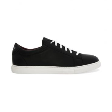 Harper Two-tone black and white leather trainers business casual for men and women Handmade in Spain by Beatnik Shoes