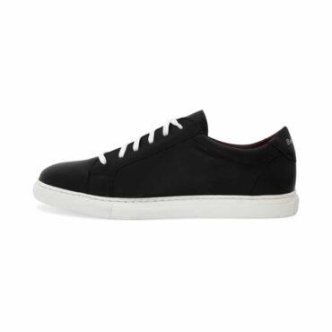 Zapatillas de piel bicolor blancas y negras para hombre y mujer estilo formal Harper Black and White