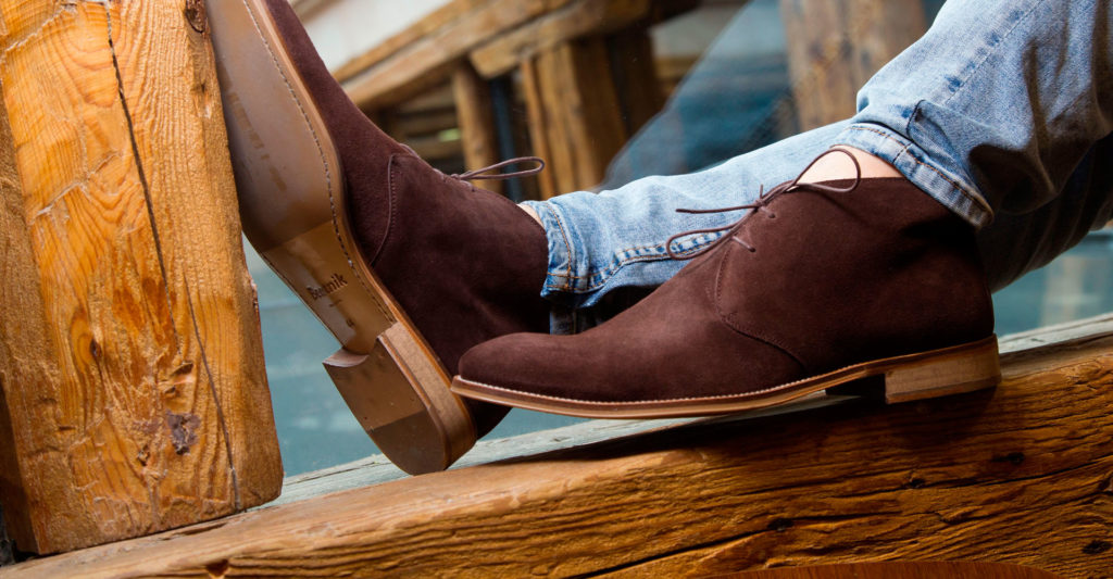 Brown suede desert boots for men Kenneth by Beatnik Shoes