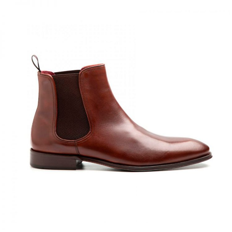 Handmade brown chelsea boots for men by Beatnik Shoes