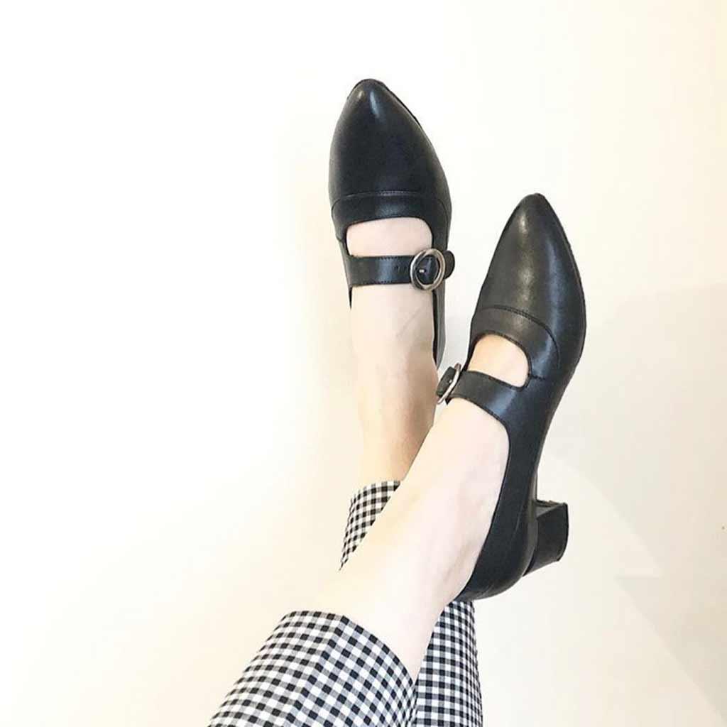 Zapato de salón negro con hebilla para mujer Sylvie Black