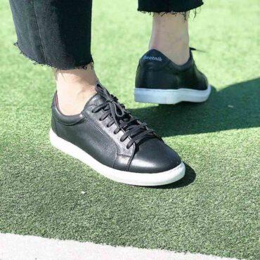 Sneakers unisex de piel Beatnik Harper Black & White. Hechas a mano en España por Beatnik Shoes