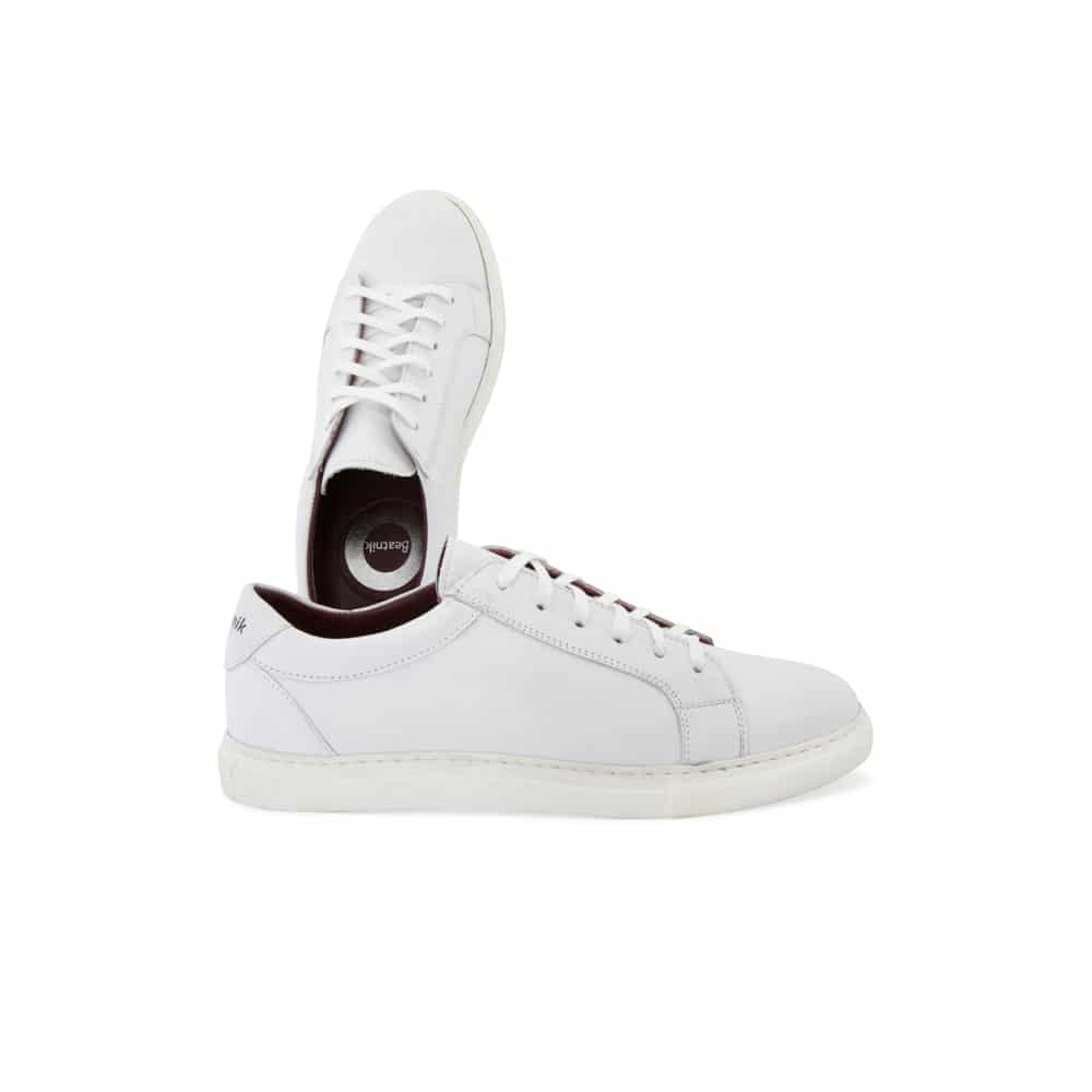 atarse en comprar baratas elegante y elegante Harper White - White leather Sneakers for men and women handmade in Spain