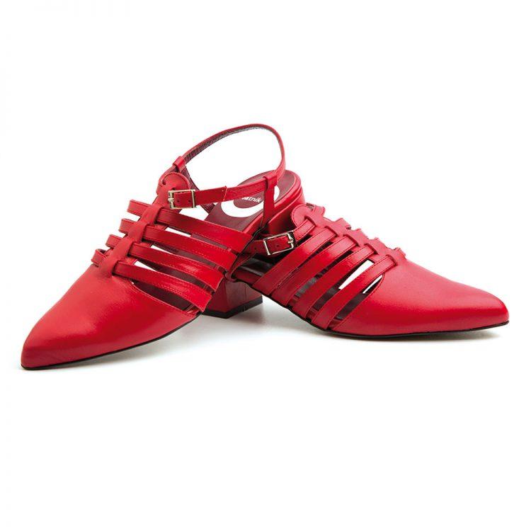 Red Sandals for women Beatnik Françoise Fraise