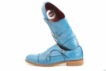 Zapato de doble hebilla azul para mujer Beatnik June Blue