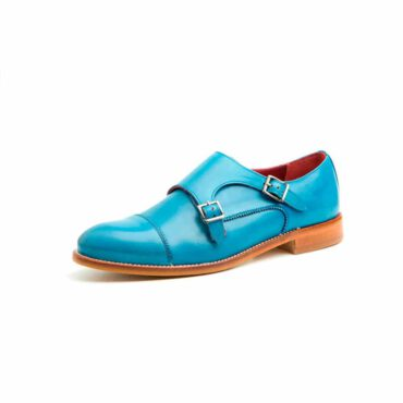 Blue Monk Strap Shoes for women Beatnik June Blue