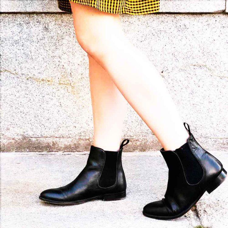 Handmade in Spain black chelsea booties for women Carla
