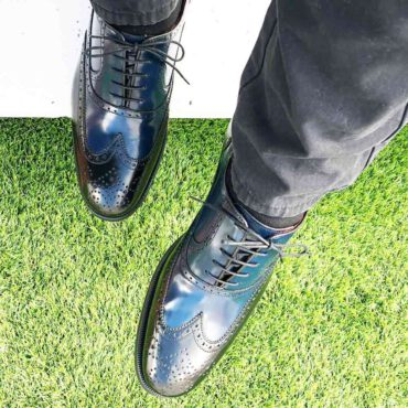 Zapato Oxford bicolor de hombre Holmes Black & Blue