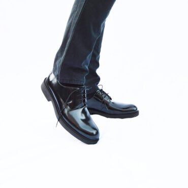 Men's black Blucher shoes Beatnik Jack Noir ‬
