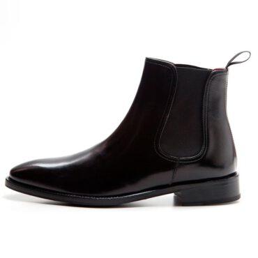 Botas Chelsea negras para hombre Cassady Black hecha a mano en España por Beatnik Shoes