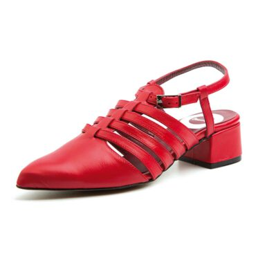 Red Sandals for women Beatnik Françoise Fraise