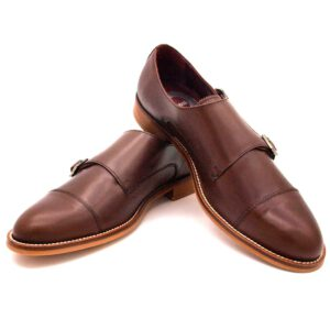 Brown Monk strap Shoes for women June. Handmade in Spain by Beatnik Shoes