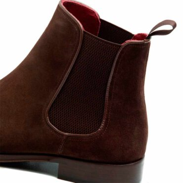 Dark Brown Suede Chelsea boots Beatnik Cassady Brit by Beatnik shoes, handmade in Spain