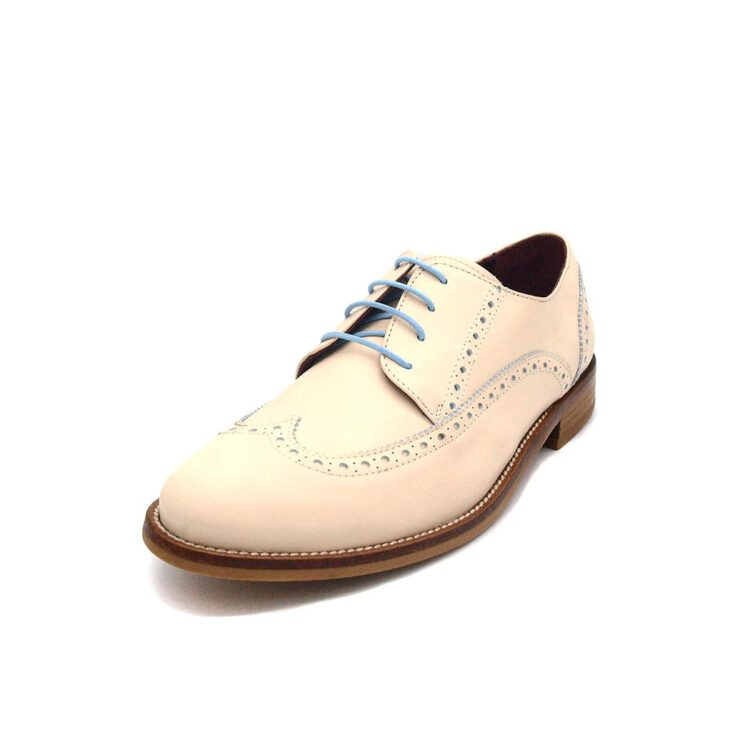 Handmade in Spain beige lace-up Oxford Style shoes for women Beatnik Ethel Beige