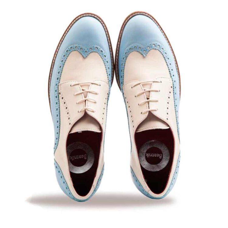 Zapato blucher bicolor de mujer con cordones Ethel por Beatnik Shoes