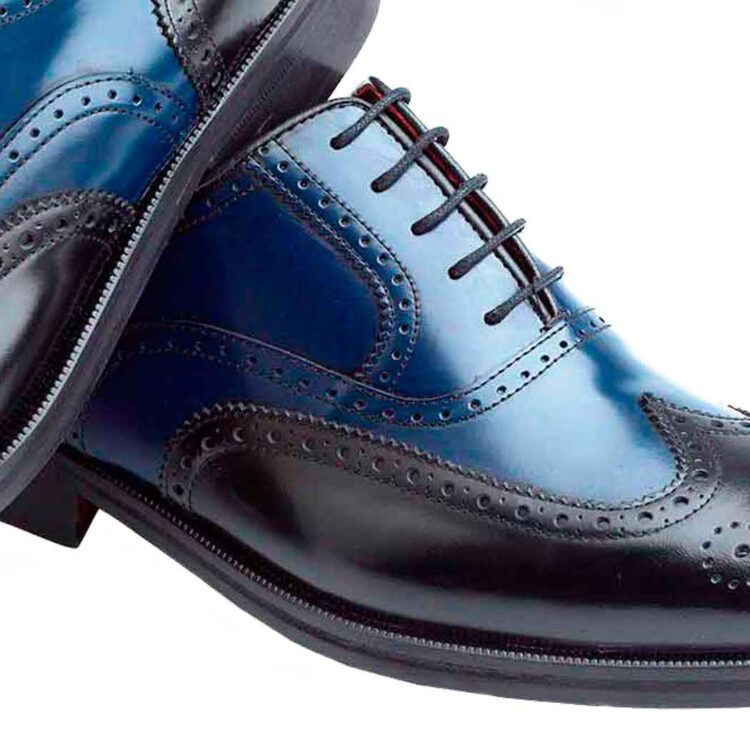 Zapato Oxford bicolor de hombre Holmes Black & Blue