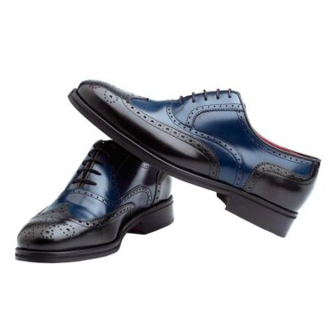 Two-Tone classic lace-up Oxford Style for men Beatnik Holmes Black & Blue